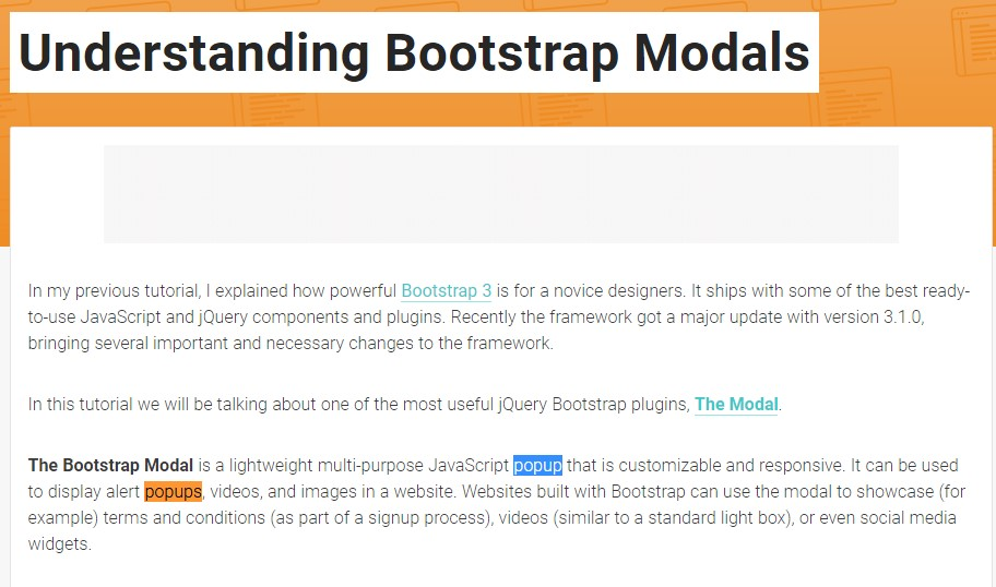 One more  helpful article about Bootstrap Modal Popup