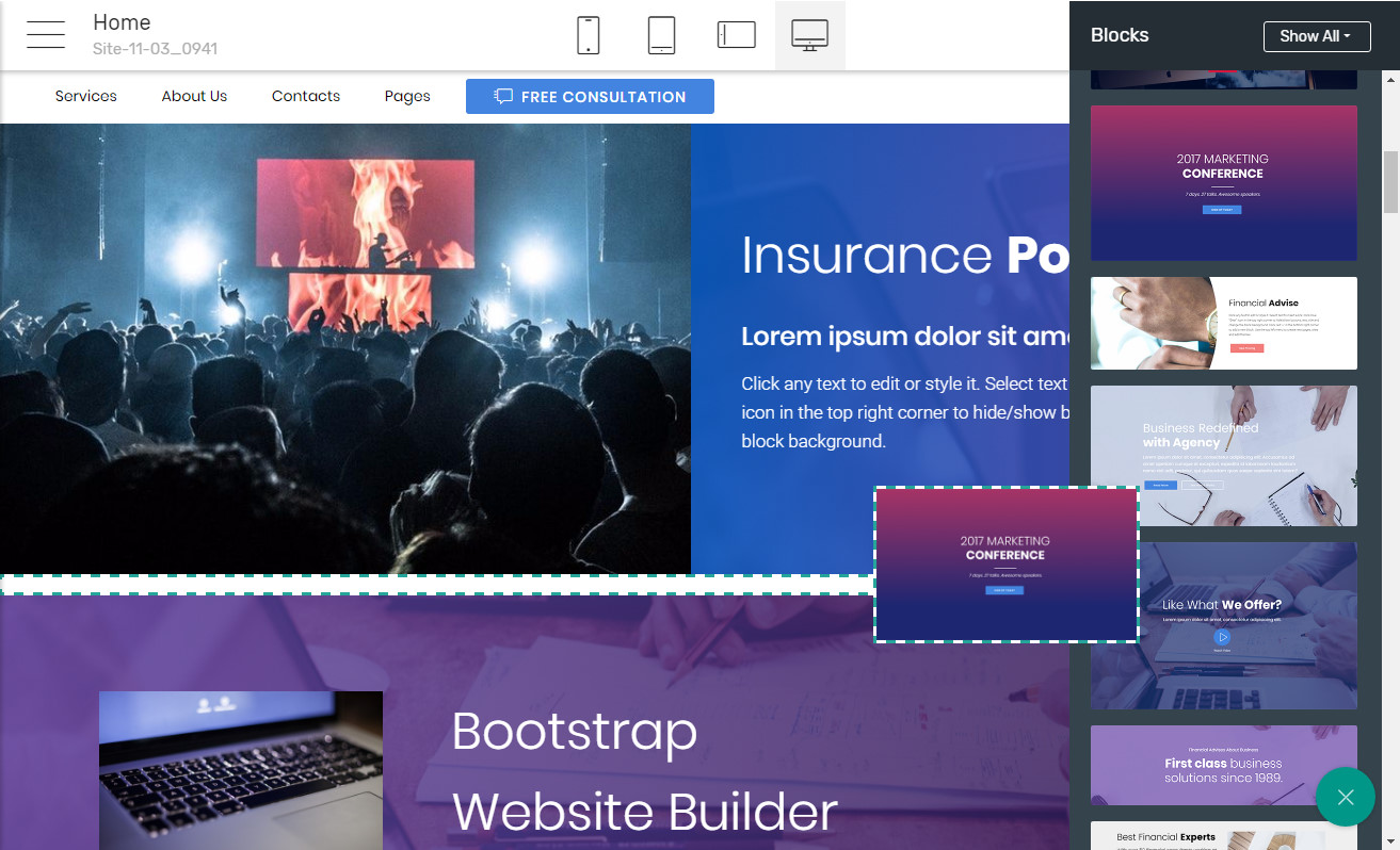 Bootstrap Website Software