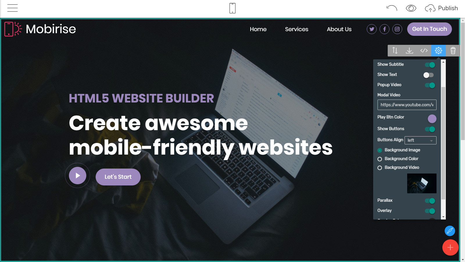 mobile site templates