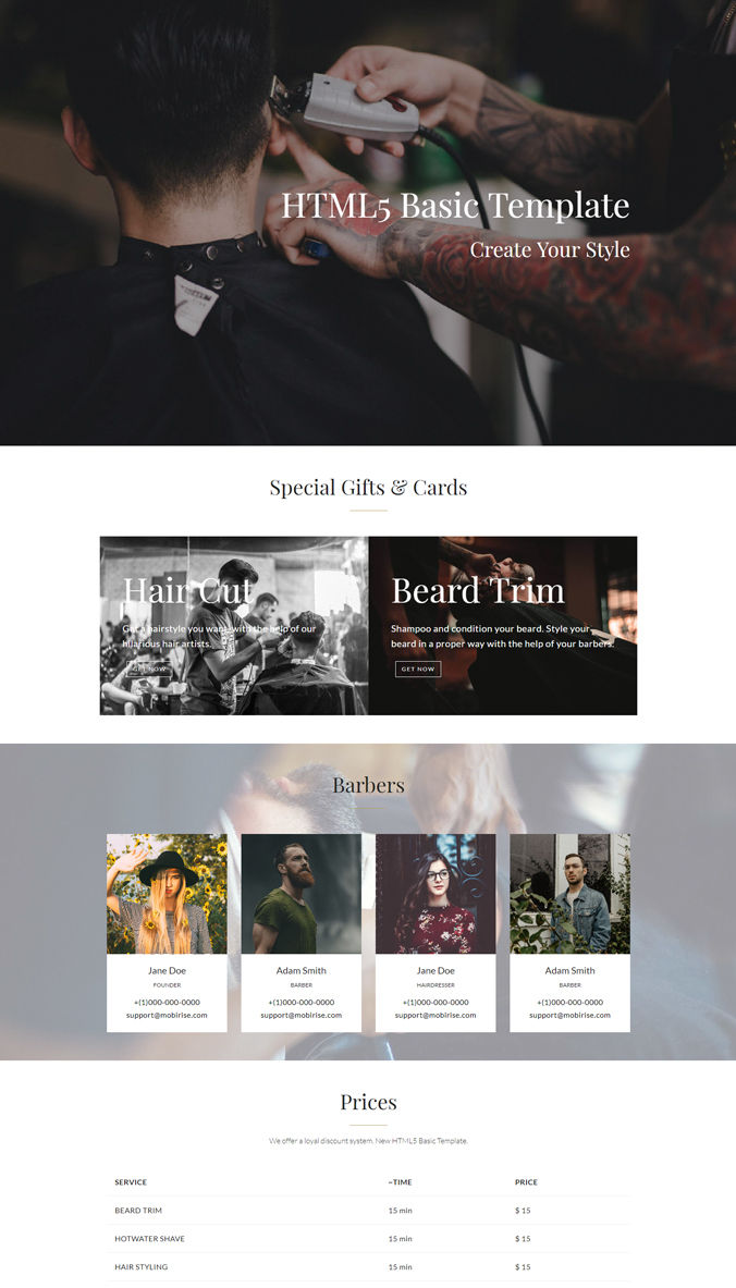 Basic Website Template